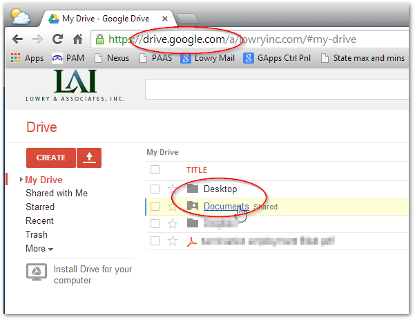 Backup Documents folder and Desktop with Google Drive